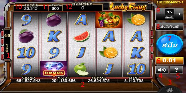 How to play Lucky Fruits Slot